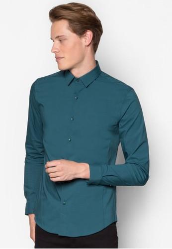 esprit 中文彈性貼身長袖襯衫, 服飾, 襯衫