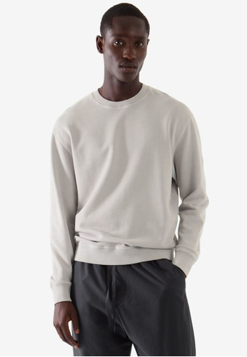 Cos grey Relaxed Fit Sweatshirt 6ABCEAA13DEAD2GS_1