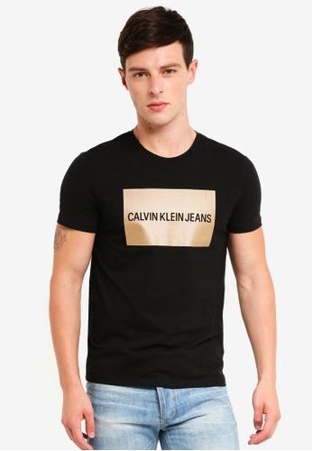Calvin Klein 黑色 Logo Slim Tee - Calvin Klein Jeans 7B8D3AA2B39029GS_1