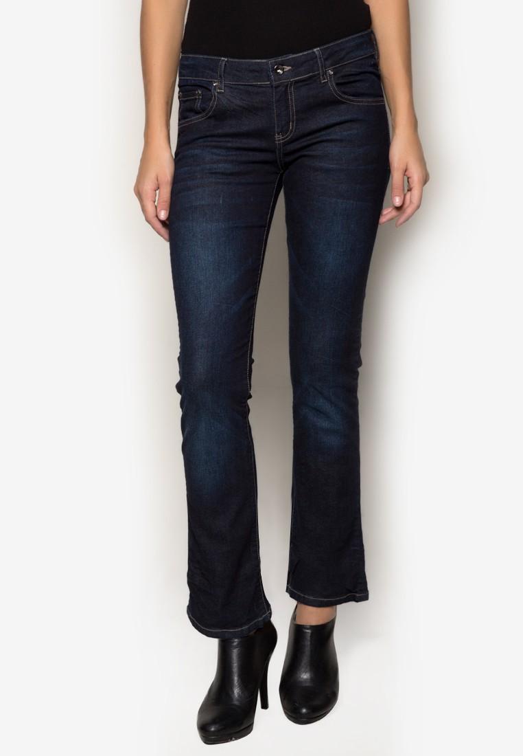 Womens Bootcut Blue Jeans