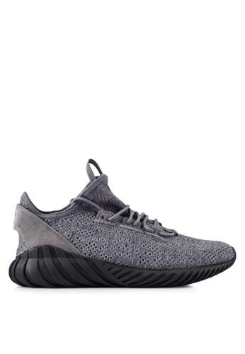 adidas grey adidas originals tubular doom sock pk AD372SH0RNKLMY_1