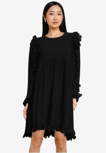 Vero Moda black Zigga 7/8 Dress C2BEEAA7FED9E9GS_1