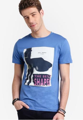 Boss Orange blue Tacket 2 T-Shirt BO434AA22MFPMY_1