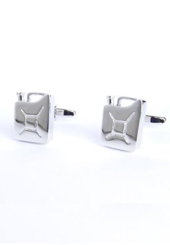 Splice Cufflinks silver Jerry Cans Cufflinks SP744AC41OLQSG_1