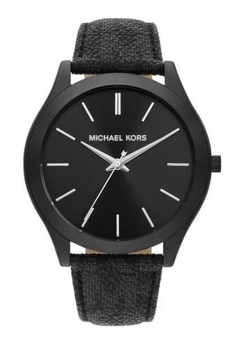 Michael Kors black Slim Runway Watch MK8908 03710AC6442524GS_1