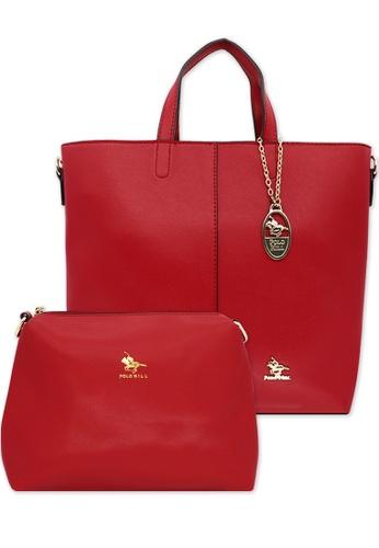 POLO HILL red Polo Hill Set Handbag B5046AC3FC401BGS_1