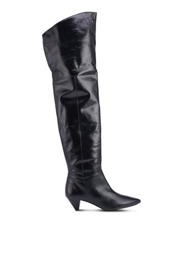 94d32cafe13 Buy Mango Leather High-Leg Boots Online on ZALORA Singapore