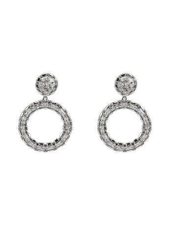 ALDO silver Boallia Pierced Earrings C14AEAC4B225E3GS_1