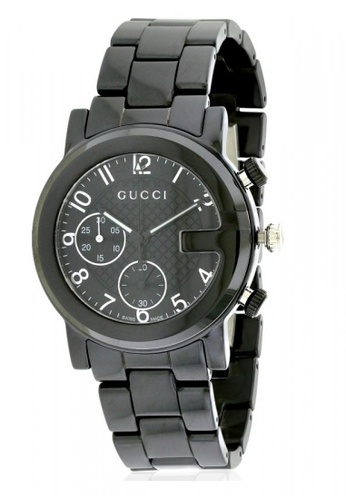 60cdd962e2f Gucci black GUCCI G-Chrono Chronograph Black Dial Men s Watch  4D57FAC7D957A7GS 1