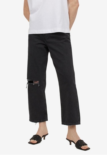 H&M grey Straight High Ankle Jeans D4E43AA5B25A83GS_1