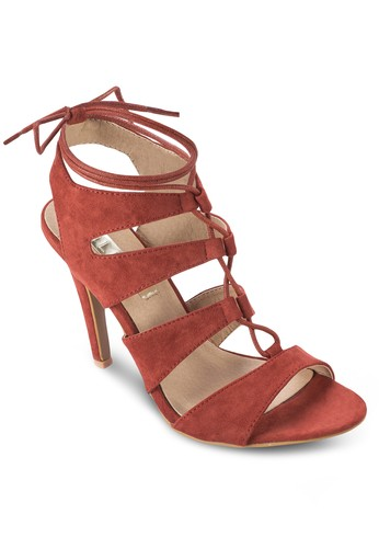 Oden 羅馬高跟涼鞋, 女鞋, 細帶高zalora鞋跟鞋