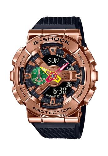 G-shock black and gold CASIO G-SHOCK METAL x RUI HACHIMURA Limited Edition GM-110RH-1A FA942AC40D3F9AGS_1