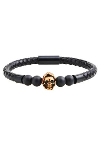 HAPPY FRIDAYS Skull Leather  Bracelet QNW2448 92CD5AC21C5FAFGS_1