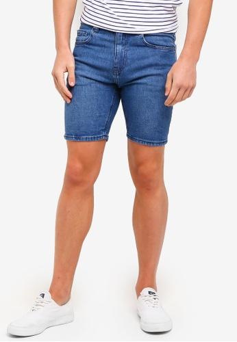 Cotton On 藍色 Skinny Straight Shorts 79B2FAA31B9398GS_1