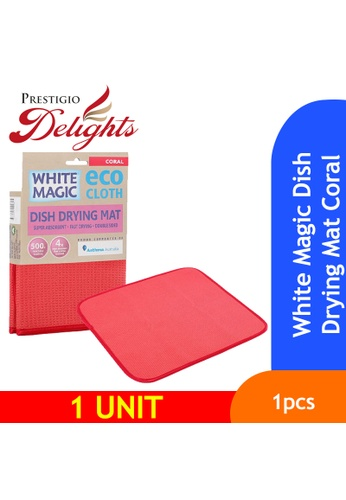 Prestigio Delights White Magic Dish Drying Mat Coral 86695ES58E1C9BGS_1