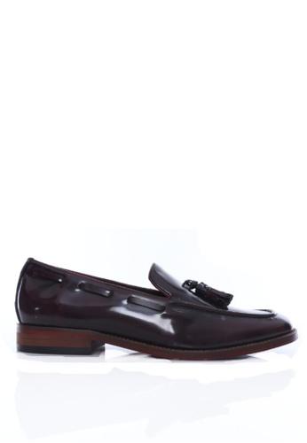 Zeve Shoes red Zeve Shoes Tassel Loafer - Oxblood Polished Leather 6BC32SHE1F1D9EGS_1