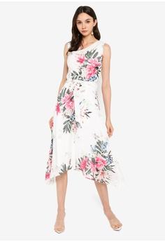 f1d2bc7a60 Dorothy Perkins white Billie & Blossom Ivory Cowl Neck Floral Midi Dress  F4CF4AAEDB8F91GS_1