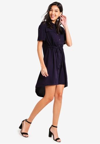 d78d72e9aca Buy ZALORA Pull String Safari Shirt Dress Online on ZALORA Singapore