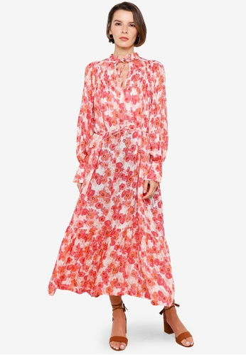 H&M orange and multi Patterned Dress 2BFD8AAEAB4AE4GS_1
