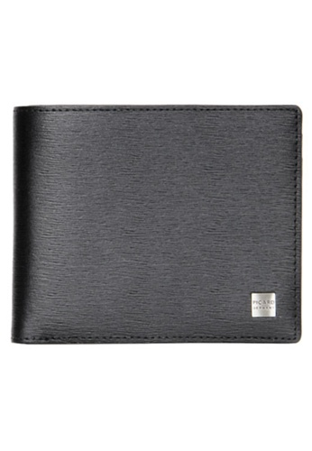Picard black Picard Classic Men's Leather Wallet With Card Window PI517AC0HAA3SG_1