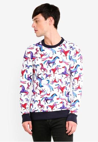UniqTee white Animal Print Sweater CE756AAAB0838EGS_1