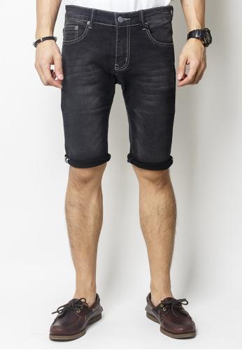 2nd Edition black Dark Stonewashed Denim Shorts 37093AA5FBF51DGS_1