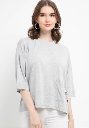Lois Jeans grey Rayon T-Shirt KSC642 E158AAA09CEEA3GS_1