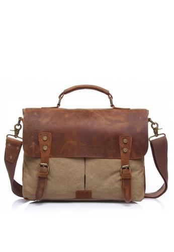 Twenty Eight Shoes Vintage Leather Wax Canvas Messenger Bags1807 4DA06ACEBB6A9CGS_1
