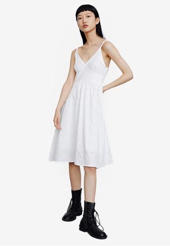 URBAN REVIVO white Lace Cotton Dress EE9E9AAB939A6EGS_1