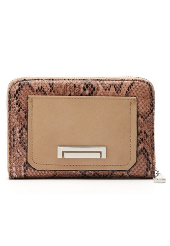 LULUGIFT brown Old Vintage Snake Skin PU Leather Wallet LU989AC98MNDMY_1