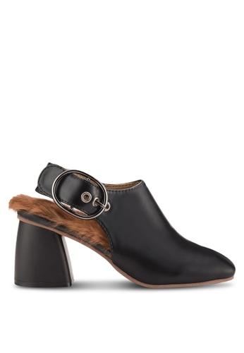 Sunnydaysweety black 2018 New Slingback Block Heel Boots RA101210BK AFB97SH24DA8CFGS_1