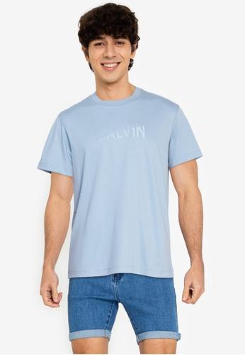 Calvin Klein multi Calvin Klein Jeans Mens Tonal Embroidered Logo Tshirt C9B4CAA1452A89GS_1