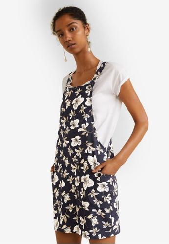 Mango blue Pockets Pinafore Dress E637BAAB0062BEGS_1