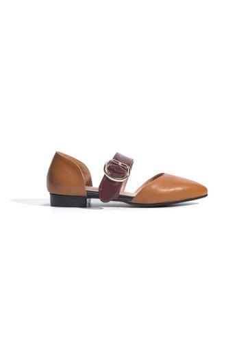 hk-ehunter brown Block Heel Loafers HK648SH2URARHK_1