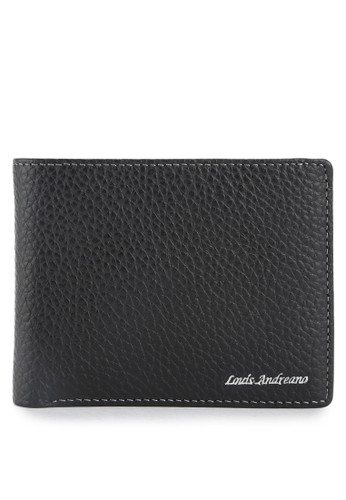 Louis Andreano black Miller Trifold Wallet 043 LO182AC0VYCSID_1