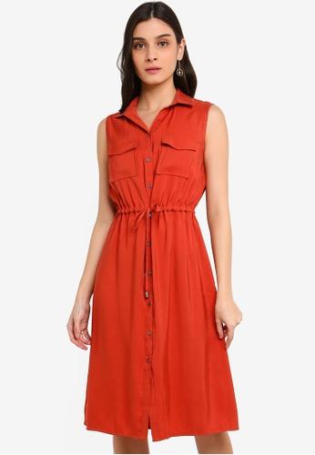 FORCAST orange Katie Pocket Shirt Dress 8D2FEAAEF39314GS_1