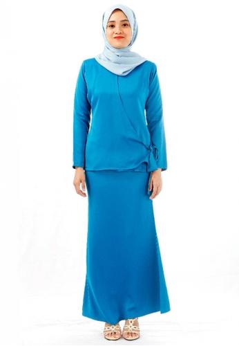 KAMDAR blue Eliora kurung modern-Blue BAC18AAB5E6E87GS_1