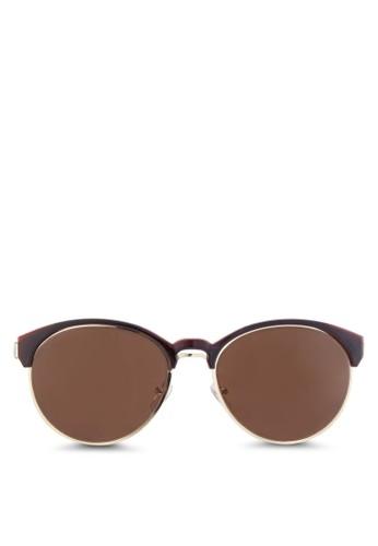 NUVEAU 金屬邊圓框太陽眼鏡, 飾品配esprit台北門市件, 圓框