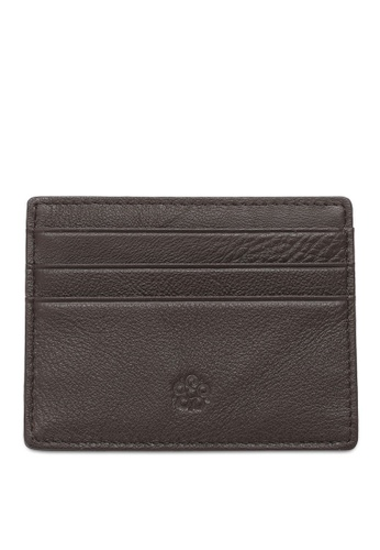 Wild Channel brown Leather Card Holder 43BF5AC4413977GS_1