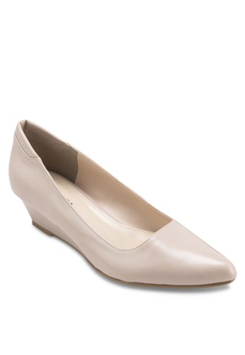 JENNA 素色尖頭楔esprit china形鞋, 女鞋, 厚底楔形鞋