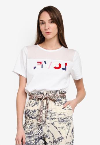 Desigual white Organic Love T-Shirt 89237AA0B183FAGS_1