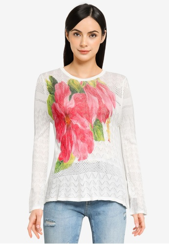Desigual white Bell Sleeves Knit Sweater A2415AAB1DC10DGS_1
