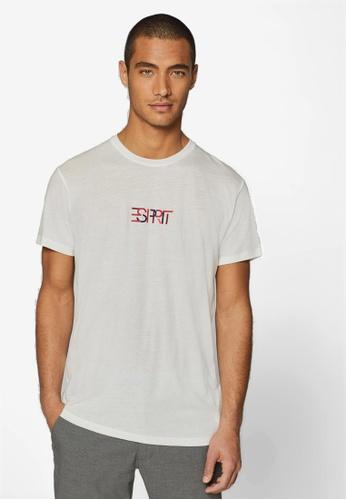 c1f8e0ae3063 Shop ESPRIT E-Dry Logo Jersey T-Shirt Online on ZALORA Philippines