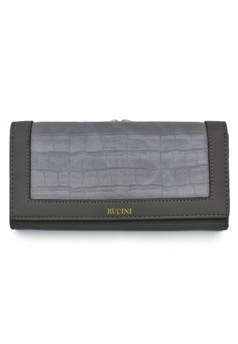 RUCINI grey Rucini Ladies Long Bi-Fold Kiss Lock Wallet F7F6EAC7437246GS_1