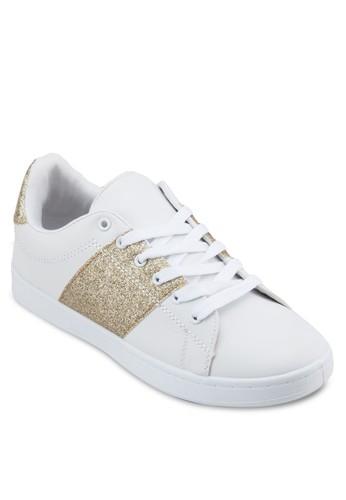 金屬感拼接esprit 門市繫帶休閒鞋, 女鞋, 鞋