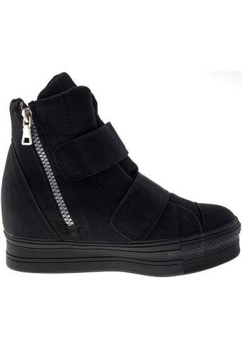 Maxstar black Maxstar Women's C2 Dual Velcro Studed Hidden Heel PU High Top Sneakers US Women Size MA164SH63PZOSG_1