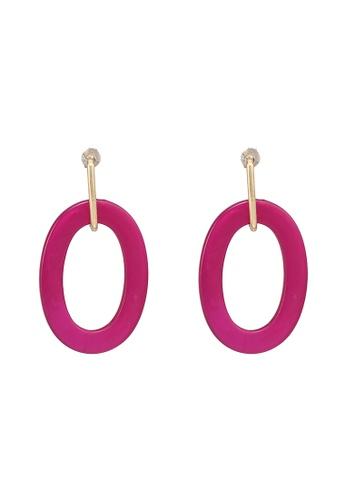 niko and ... pink Oval Dangle Earrings 63E68AC82F3722GS_1