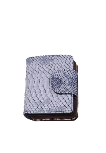 Twenty Eight Shoes navy VANSA Serpentine Pattern Embossed Cow Leather Bi-Fold Wallet VBW-Wt60303 F6B88AC6B02DC8GS_1