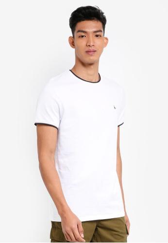 Jack Wills white Baildon Ringer T-Shirt C52CFAA6B5E71EGS_1