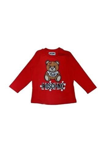 MOSCHINO BABY KID TEEN red MOSCHINO BABY LONG SLEEVE T-SHIRT CEAA0KA5040A98GS_1